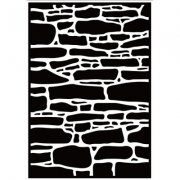 Embossing Folder -Nellie Snellen - Stone Wall