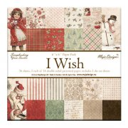 "Paper Pad 36 ark Maja Design 6""x6"" - I Wish"