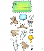 Inky Antics Clear Stamp - Hare Mail