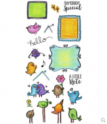 Inky Antics Clear Stamp - Mail Birds