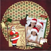 "Stickers 12""x12"" Reminisce - Here Comes Santa Variety"