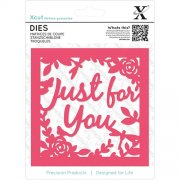 Dies XCut - Just For You Topper 4.5""