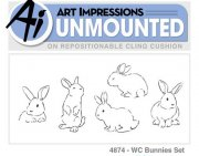 Art Impression Stamps - Bunnies set - 5 Kaniner