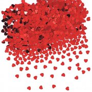 Konfetti - Red Foil Hearts - 14g