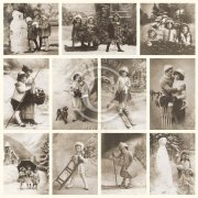 Vintage Bilder Pion Design - Winter Joy