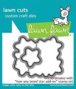 Lawn Fawn Cuts Custom Craft Die - How You Bean? Star Add-On