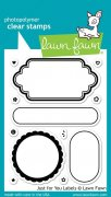 Clear Stamps - Lawn Fawn - Just For You Labels