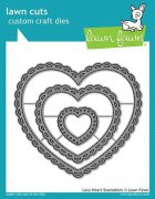 Dies Lawn Fawn Cuts - Lacy Heart Stackables