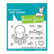 "Clear Stamps 3""X2"" - Lawn Fawn - Octopi My Heart"