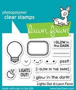 "Clear Stamps 3""X2"" - Lawn Fawn - Lights Out"