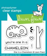 "Clear Stamps 3""X2"" - Lawn Fawn - One in a Chameleon"