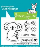 Lawn Fawn Clearstamps - I Love You(calyptus)