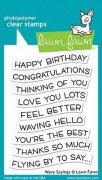 Lawn Fawn Clearstamps - Wavy Sayings