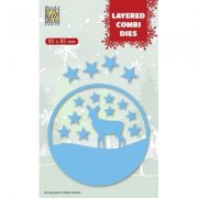 Layered Combi Dies Nellie Snellen - Deer C