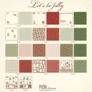 Papper Pion Design Julpapper Lets be Jolly