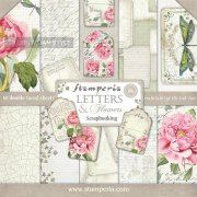 "Paper Pad 12""x12"" - Stamperia - Letters & Flowers"