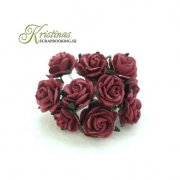 Mulberry Rose - 10 mm - Burgundy
