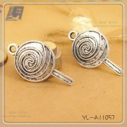 Charms 3 st - Retro Lollipop 36mm ++