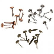 Idea-Ology Long Fasteners - Brads 99 st Antique Nickel, Brass & Copper