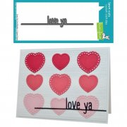 Dies Lawn Fawn Cuts - Love Ya - Line Border