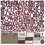 "Stickers 12""x12"" - Luke 2 Alphabet - Photo Play"