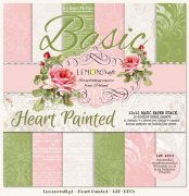Paper Pad 12x12 - LemonCraft Basic Paper - Heart Painted