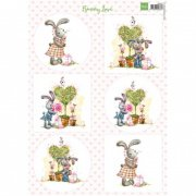 Marianne Design Topper Sheet A4 - Bunny Love Nr 2