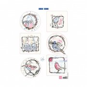 Marianne Design Topper Sheet A4 - Pastel Birds