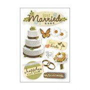 3D Stickers - Just Married - Paper House