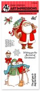 Art Impressions - 8 st Clear Stamp - Merriest Christmas