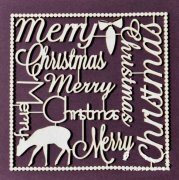 Chipboard Die Cuts - Merry Christmas