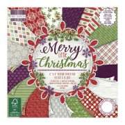 "Paper Pad 6""x6"" - Merry Little Christmas by First Edition - 48 ark"