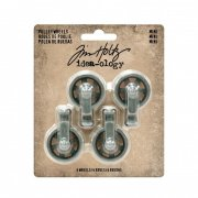 Metalldekorationer Tim Holtz - Mini pulley wheels