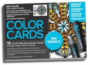 Chameleon Color Cards - Embossed Lines - 10x15 - Mini Mandalas