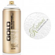 Montana GOLD Sprayfärg - Shock White - 400 ml - Vit