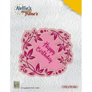 Multi Frame Die - Nellie Snellen - Flower Wreath Happy Birthday
