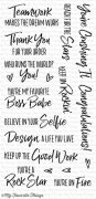 Clear Stamps - My Favorite Things - Boss Babe