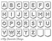 My Favorite Things Dies - Stitched Banner Alphabet