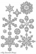 My Favorite Things Dies - Stylish Snowflakes