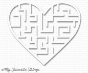 My Favorite Things - White Heart Maze Shapes - Vit - 5 st
