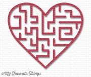 My Favorite Things - Wild Cherry Heart Maze Shapes - Röd - 5 st