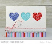 My Favorite Things - Heart Art Clear Stamps