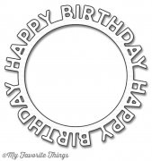 My Favorite Things Dies - Happy Birthday Circle Frame