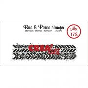 Clear Stamps Crealies - Bits & Pieces - Grunge Zigzags Strip