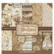 "Paper Pad 12""x12"" - Stamperia - Old Lace"