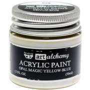 Finnabair Alchemy Acrylic Paint - Opal Magic - Yellow/Blue