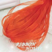 Band Organza på rulle 6mm - 10m - Orange