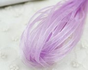 Band Organza 3mm - Rulle 10m - Lila