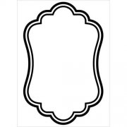 Embossing Folder - Oval Border