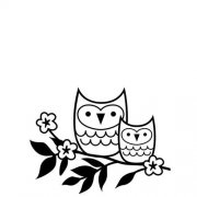 Embossing Folder - Owls on a Twig